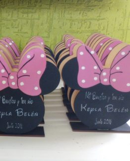 Servilleteros MDF Minnie para eventos